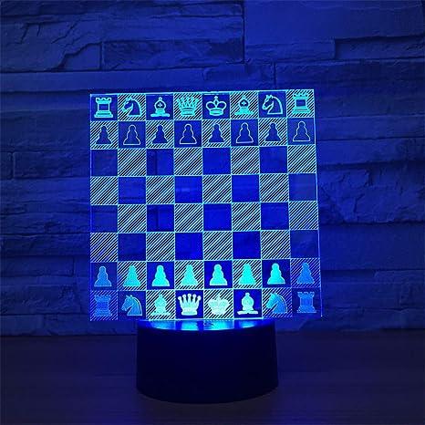 Lámparas de ilusión óptica 3D LED cerca de la luz, 7 coloresToque ...