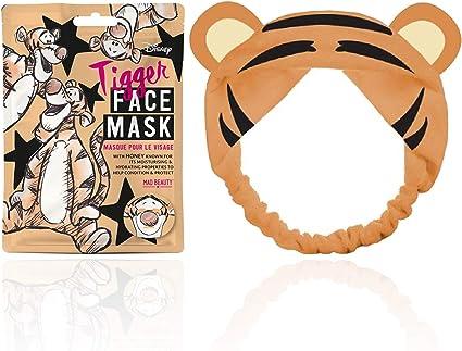 Mad Beauty Pack Mascarilla Facial + Banda Felpa Pelo Tiger 25 ml: Amazon.es: Belleza