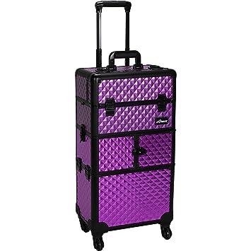 0171e5396a0c Amazon.com   Sunrise Bartolini 2-In-1 Rolling Makeup Case Professional Nail  Travel Organizer Box