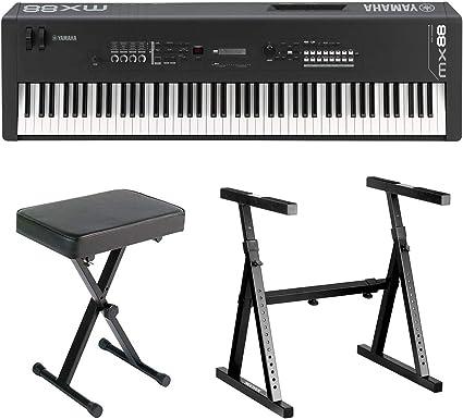 Yamaha MX88 - Sintetizador de música de 88 teclas con soporte de ...