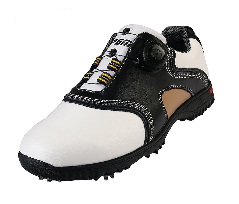 (ロモンス) Romons メンズ イングランド風 Golf ゴルフシューズ 牛革 BOAダイヤル式 防水 滑り止め スパイク(シューズバック付き) B01LYL0RWN