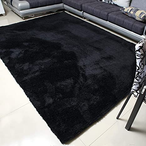 MBIGM Super Soft Modern Area Rugs, Living Room Carpet Bedroom Rug, Nursery  Rug, Black, 78.7 inches X 98.4 inches