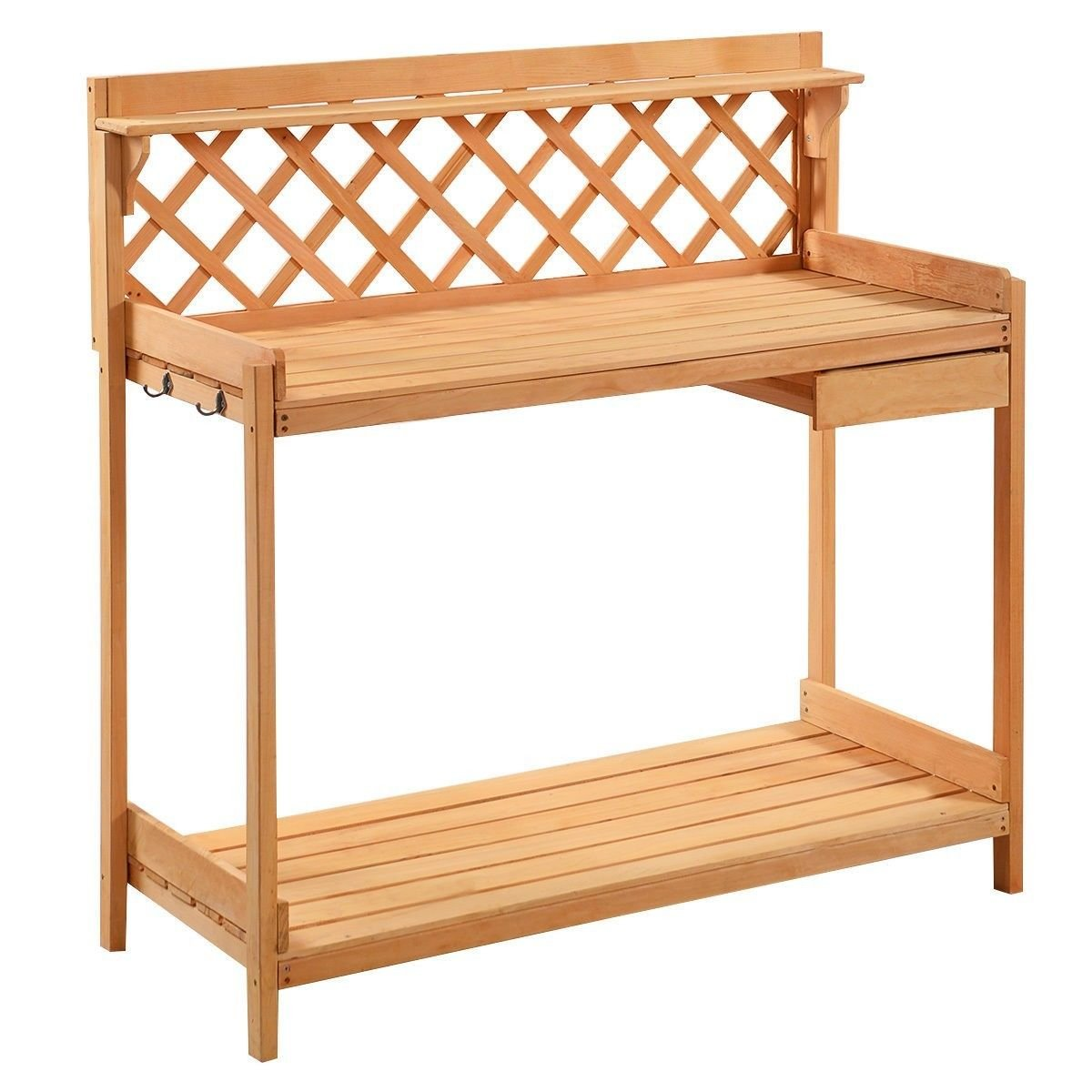 Outdoor Garden Potting Bench Work Bench Station Planting Solid Wood Construction ,product_by: patsbargainhut14 it#85252466758574