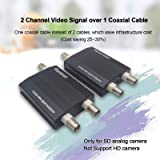 E-link 2 Channel Video Multiplexer Over One Coaxial Cable for Normal Standard Analog Cameras Only, Not Support AHD/CVI/TVI 720P/1080P Camera