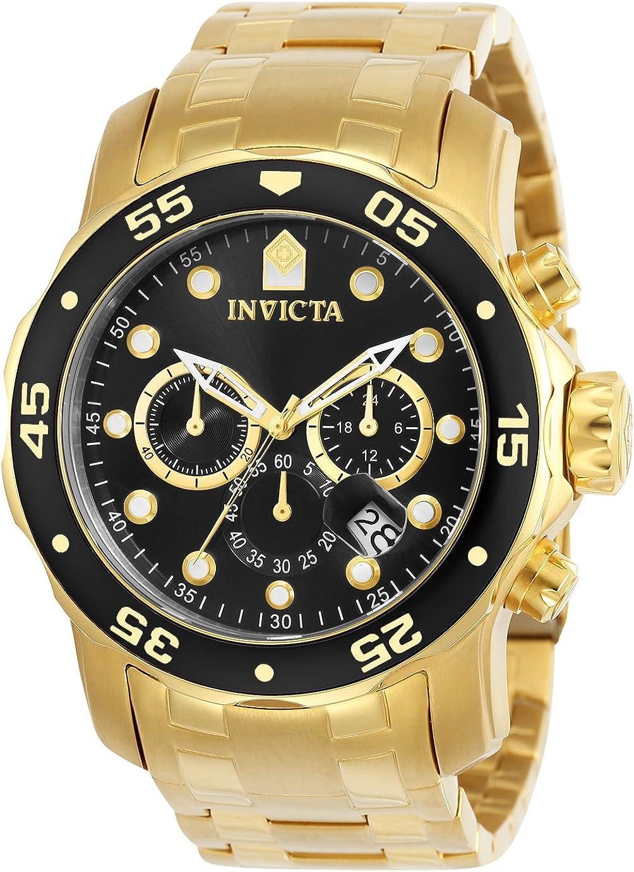 Invicta 0072 Pro Diver - Scuba Reloj para Hombre acero inoxidable Cuarzo Esfera negro