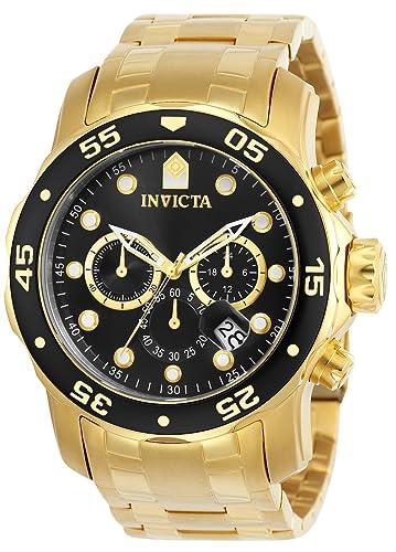 fd9e9e37e9a Invicta 0072 Pro Diver - Scuba Reloj para Hombre acero inoxidable Cuarzo  Esfera negro  Amazon.es  Relojes