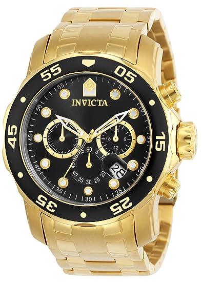 70213797307d Invicta 0072 Pro Diver - Scuba Reloj para Hombre acero inoxidable Cuarzo  Esfera negro  Amazon.es  Relojes