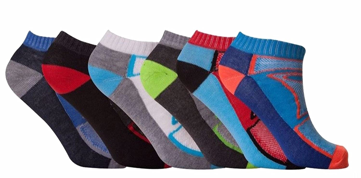 12 Pair Mens Multi Coloured Breathable Trainer Qulaity Trainer Liner Ankle Socks UK Size 6-11