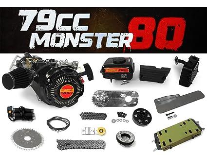 Amazon.com  79cc Monster 80 Bike Engine Kit - Complete 4-Stroke Kit ... 96b3f76cd