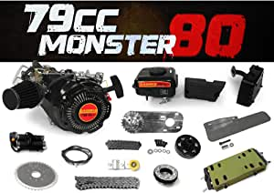GasBike 79cc Monster 80 Bike Engine Kit - Complete 4-Stroke Kit
