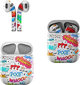 Skin Decals for Apple AirPods - Comics - Sticker Wrap Fits 1st and 2nd Generation