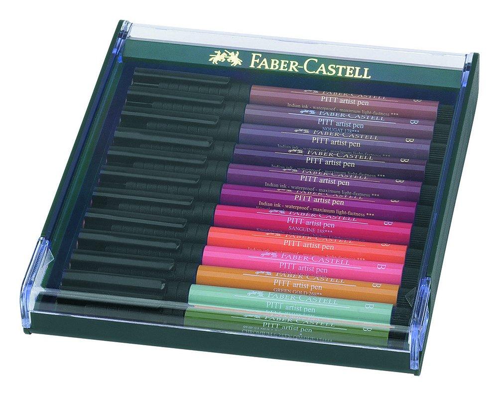 Faber-Castell 267421 - Tuschezeichner Pitt Artist Pen brush, 12-er Packung, Basic F267421