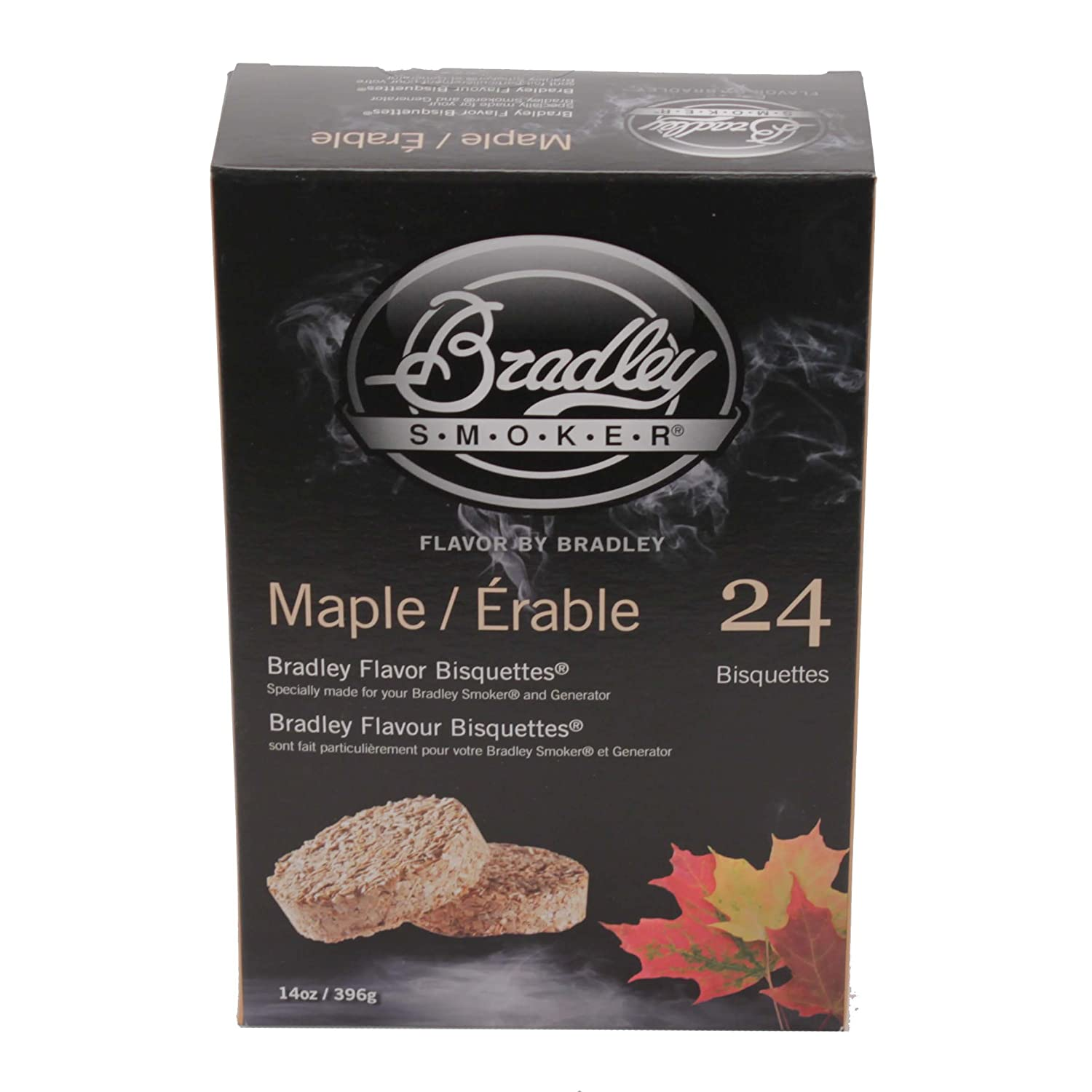BRADLEY MAPLE FLAVOUR SMOKERS BISQUETTES (PACK OF 24) B00HJAQSH8