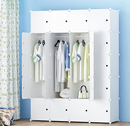 Bon MEGAFUTURE Portable Wardrobe For Hanging Clothes, Combination Armoire,  Modular Cabinet For Space Saving,