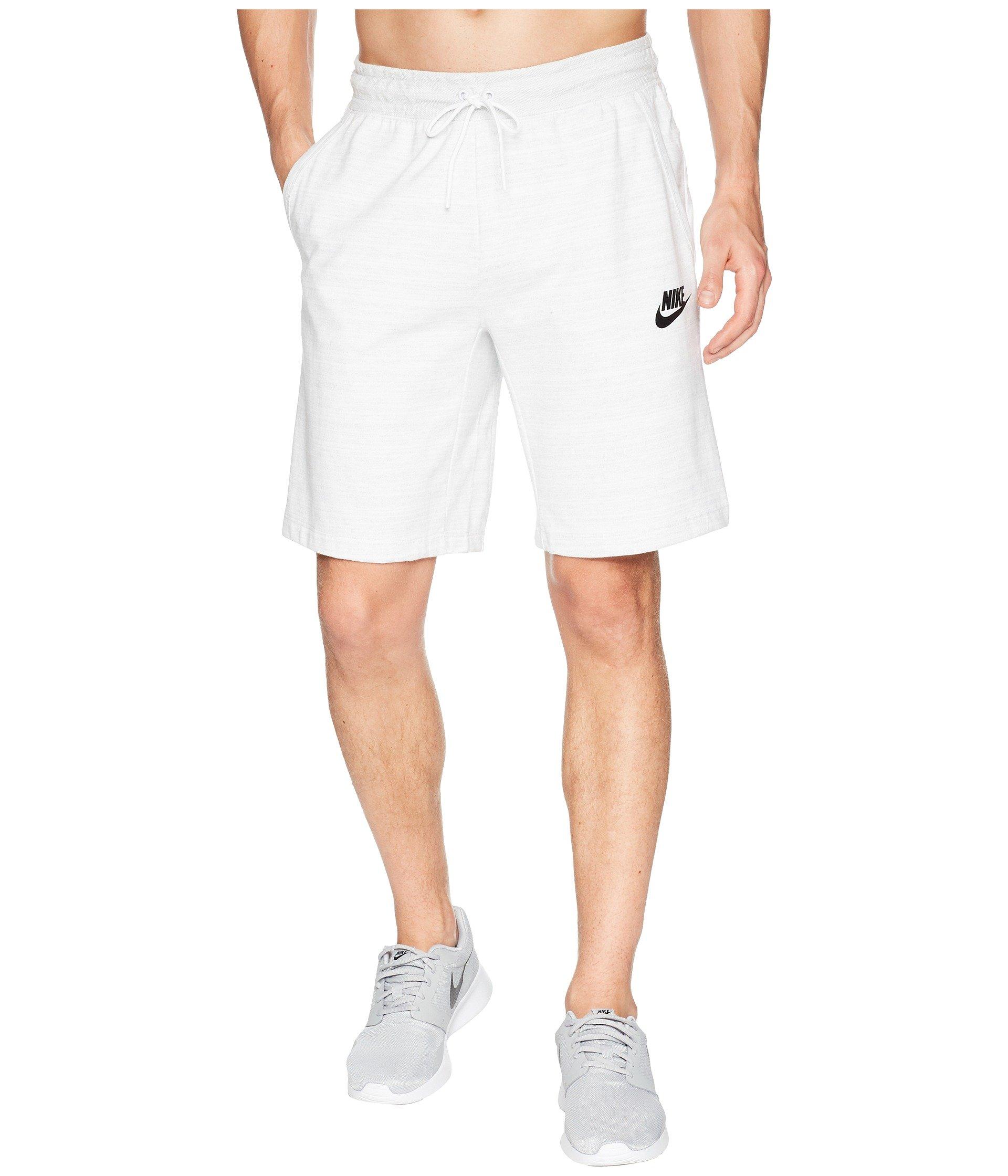 Nike Men's Advance 15 Knit Shorts White/Black (Medium)