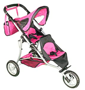 Mommy & Me Doll Twin Stroller and Carriage Bag - 9383