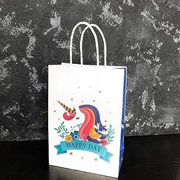 Amazon.com: BATOP Unicorn/Flamingo Paper Gift Bag Candy Bar ...
