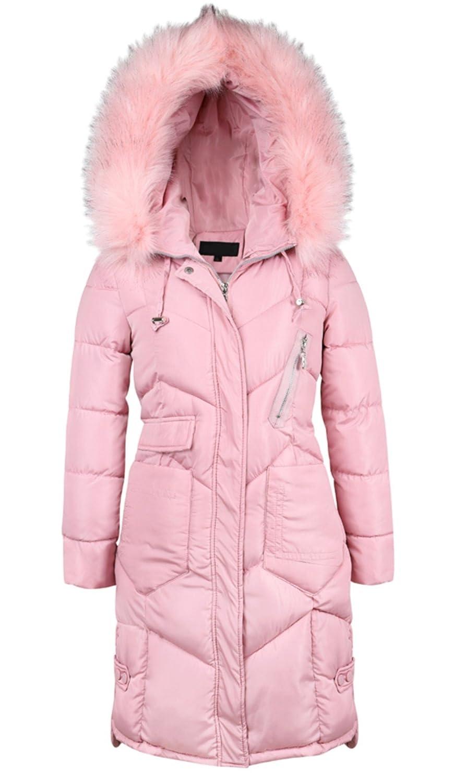 503afdf73 frawirshau Women's Winter Coats with Fur Hood Plus Size Down Parka Puffer  Jacket