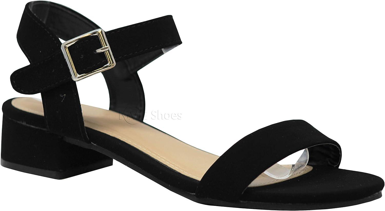 MVE Shoes Girls Stylish Comfortable Flat Single Strap Buckled Open Toe Sandal
