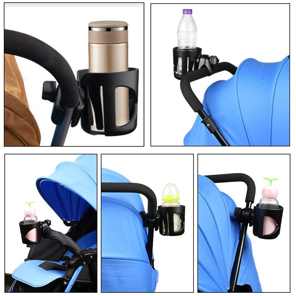 ABS Adjustable Baby Bottle Organizer for Stroller Stroller Hooks Hook Your Shopping /& Bags Black FUQUN Baby Universal Pushchair Cup Holder Baby Buggy and Bike Stroller Cup Holder Buggy Clips Set
