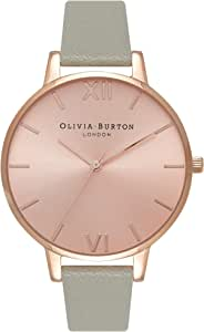 Olivia Burton Womens Quartz Watch, Analog Display and Leather Strap OB16BD98