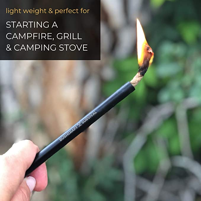 Details about  /Natural Fire Starter Tinder Wax Infused Braided Camping Gear paraffin h
