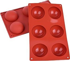 BIMNIC Hot Chocolate Bomb Molds - High-Grade Silicone Sphere - 2 Pcs for Artisanal Handmade Baking - Premium Food Grade Material