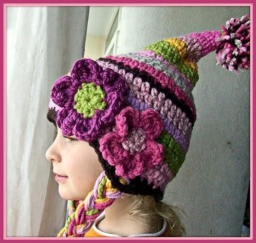 a01e5ec92f517 Amazon.com  Striped Baby Hat with Pompom