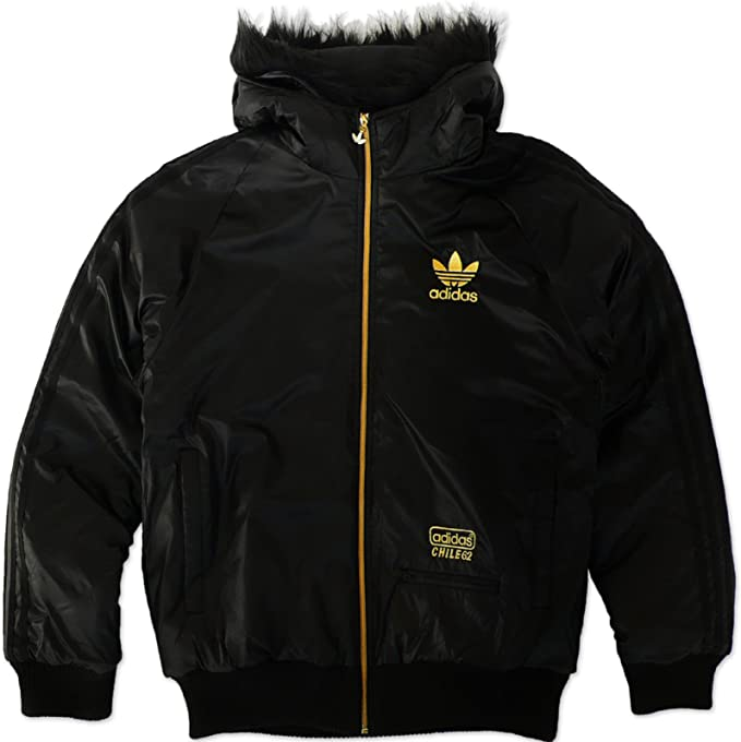 ADIDAS ORIGINALS CHILE 62 NYLON BOM HERREN WINTER JACKE FELL SCHWARZ
