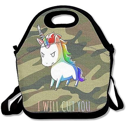 6f96bda651 Amazon.com - JAYESH BE Stabby The Rainbow Unicorn Insulated Lunch ...