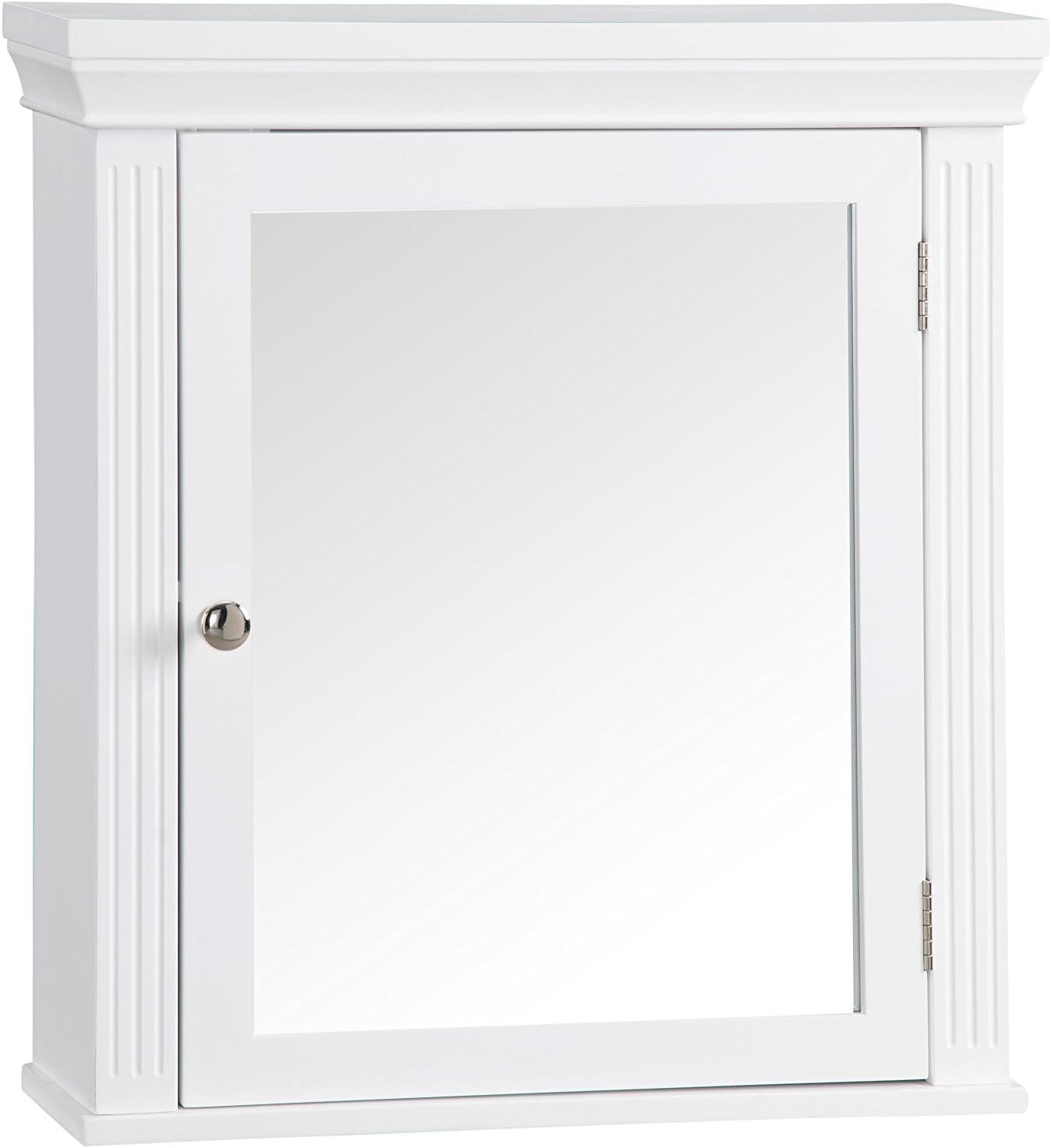 Elegant Home Fashion Chestnut Medicine Wall Cabinet Bathroom Storage