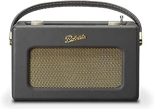Roberts Radio Retro DAB/DAB+ FM Wireless Portable Digital Bluetooth Radio Alexa Voice Controlled Smart Speaker Revival iStream 3 - Charcoal Grey