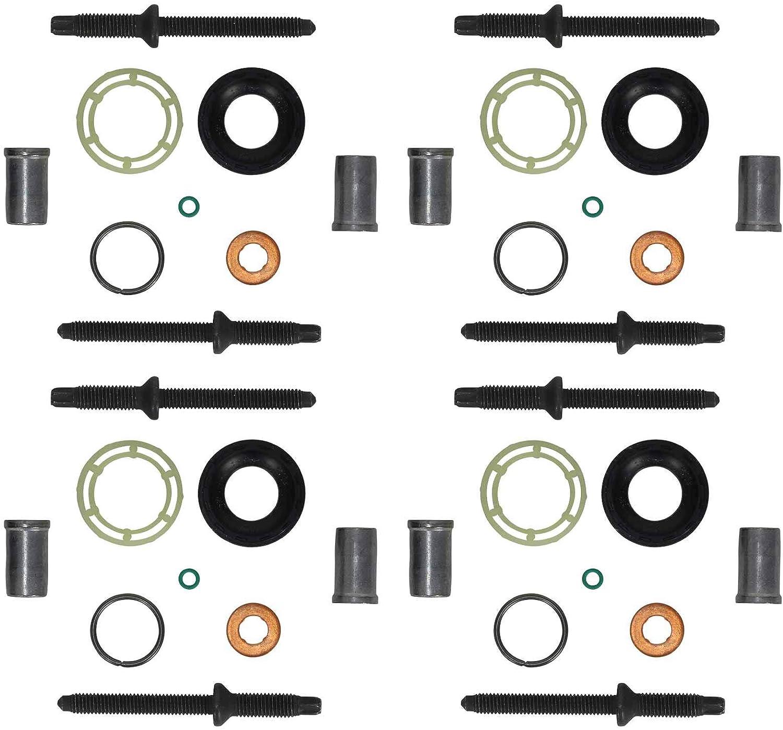Lot de 4 joints d/étanch/éit/é Kit de r/éparation pour injecteur avec vis dextension 1.6 HDI 1.6 TDCI Code moteur 9HZ 9HW DV6B W16