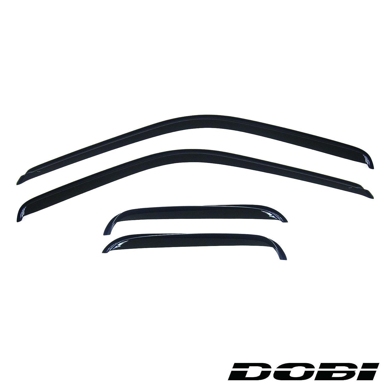 AUTEX Window Visors Deflector Tape on Smoke Fit 88-99 Chevrolet//Gmc C//K Pickup