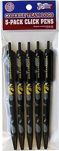 NCAA Iowa Hawkeyes Disposable Click Pens