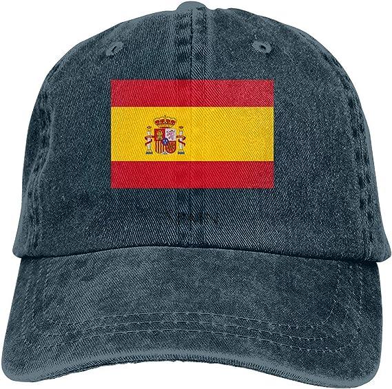 KLING Gorra de béisbol Unisex de Adultos con Lavado Vintage Gorra de papá Ajustable - Bandera de España Negra: Amazon.es: Ropa y accesorios