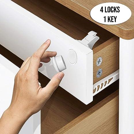 cerraduras seguridad bebes niños magneticas armarios cajones sistema cierre