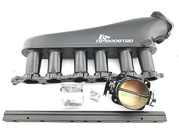 Toyota Supra MKIV Aristo 2jz-gte aluminio Colector de admisión juego 90 mm cuerpo del acelerador: Amazon.es: Coche y moto