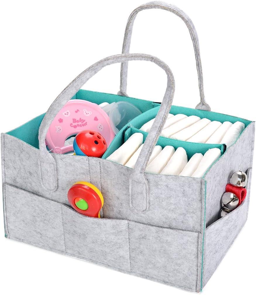 #1 Bverionant Baby Diaper Caddy Organizer Large Nursery Essentials Storage Bin Holder Bag
