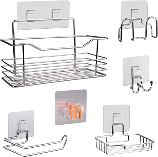 Durable Self Adhesive Soap Dish Stainless Steel Holder For Home Bathroom Silver