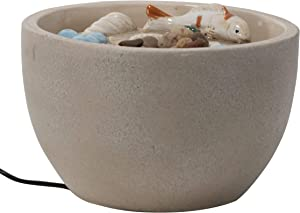 Foreside Home and Garden Multicolor Tidepool Ceramic Indoor Water Fountain with Pump