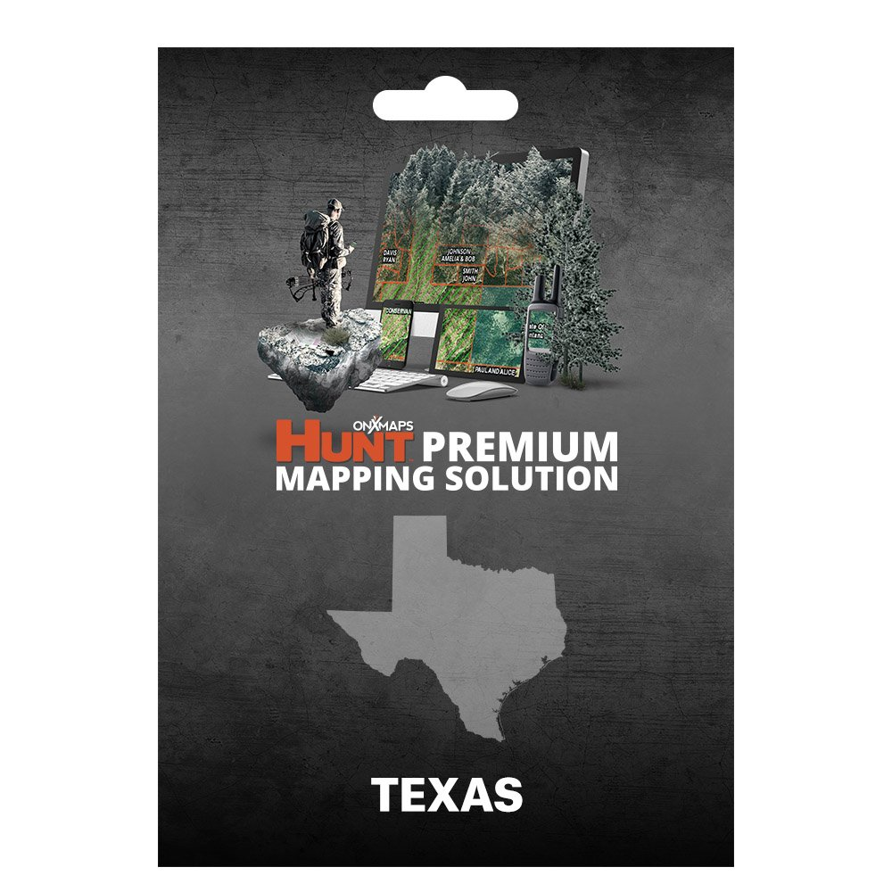 onXmaps HUNT Texas: Digital Hunting Map For Garmin GPS + Premium Membership For Smartphone and Computer - Color Coded Land Ownership - 24k Topo - Hunting Specific Data