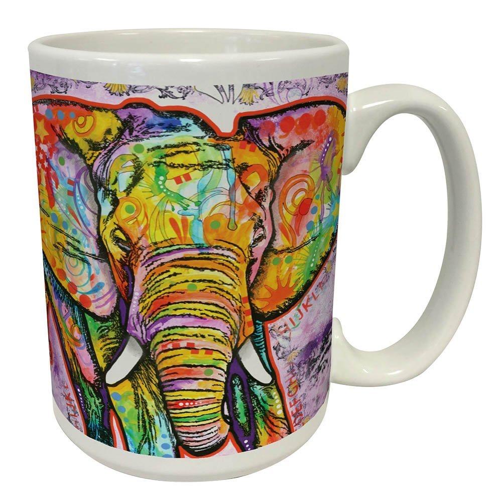 Culturenik 815-1083 Dean Russo Elephant Modern Animal Art Coffee Tea Mug, Multicolored