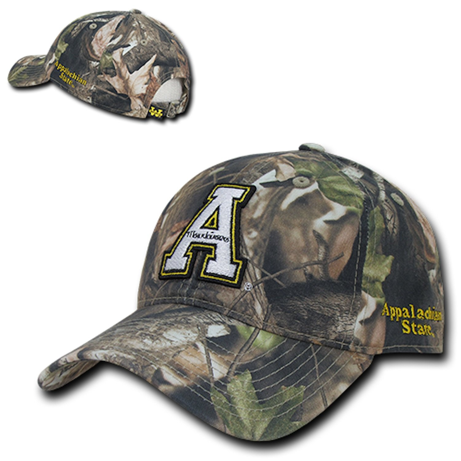 6fe9e2f09f70b Amazon.com  ASU Appalachian App State University Mountaineers Cotton  Hybricam Camo Camouflage Polo Style Baseball Ball Cap Hat  Clothing