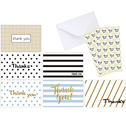 Amazon ohuhu 48 assorted thank you cards postcard style thank ohuhu 48 assorted thank you cards postcard style thank u greeting card of 6 designs m4hsunfo