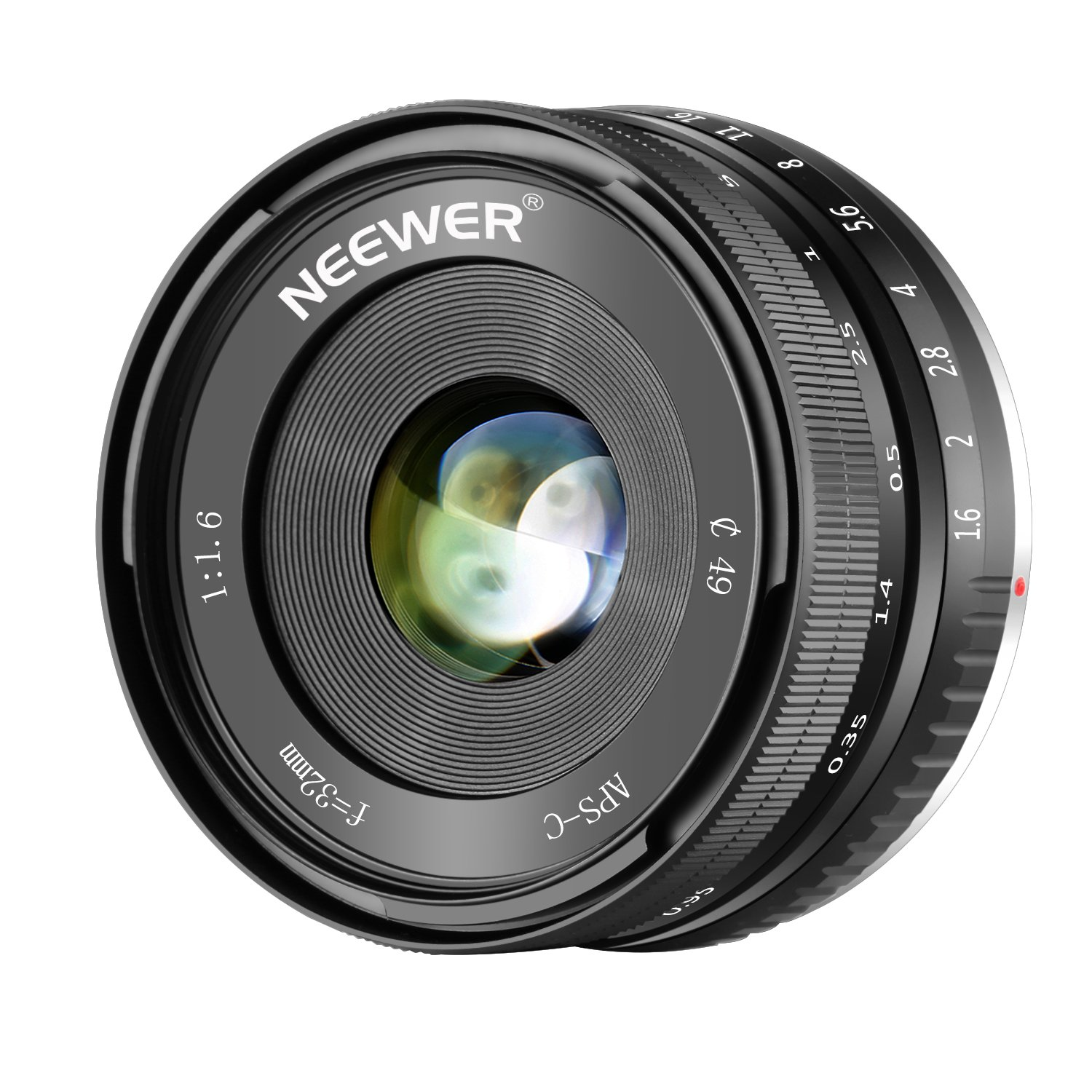 Neewer 32mm F/1.6 Manual Focus Prime Para Sony E-mount