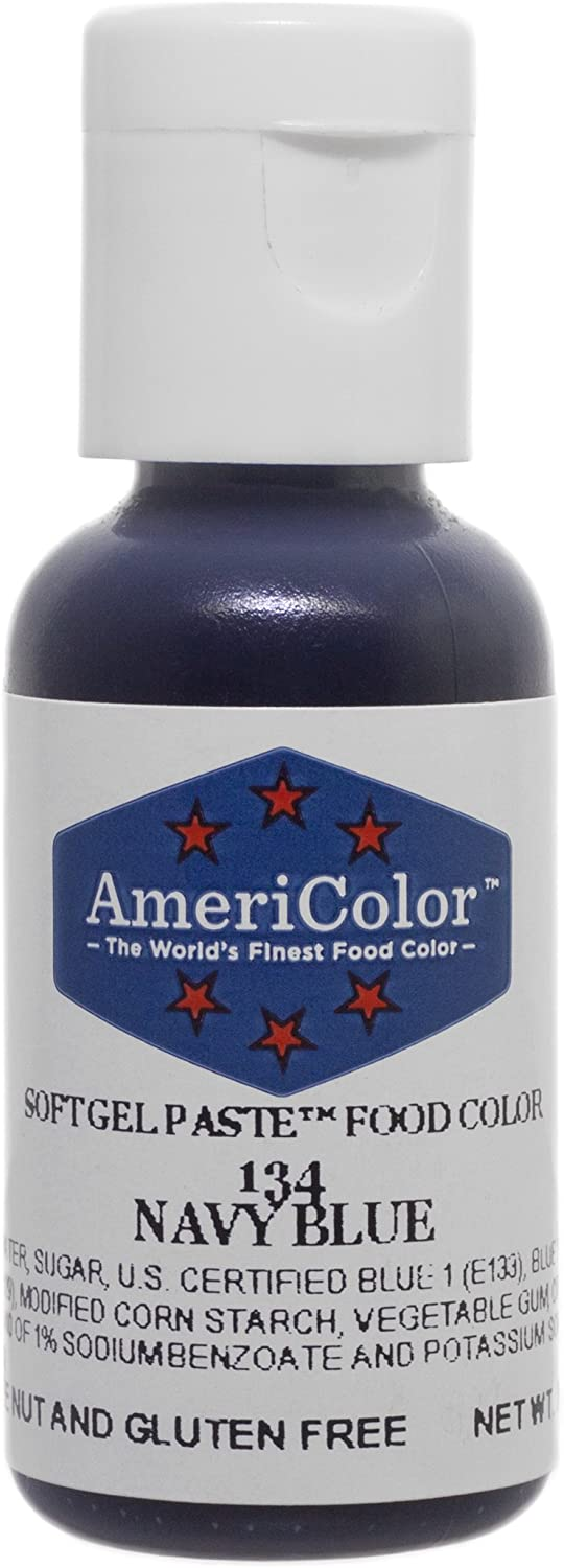 1 X NAVY BLUE .75 Ounce Soft Gel Paste Food Color