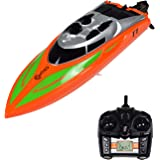 Contixo T1 RC Remote Control Racing Sport Boat Speedboat | Swimming Pool Toy Ship, Lakes, Rivers, Recreational Hobby - Orange