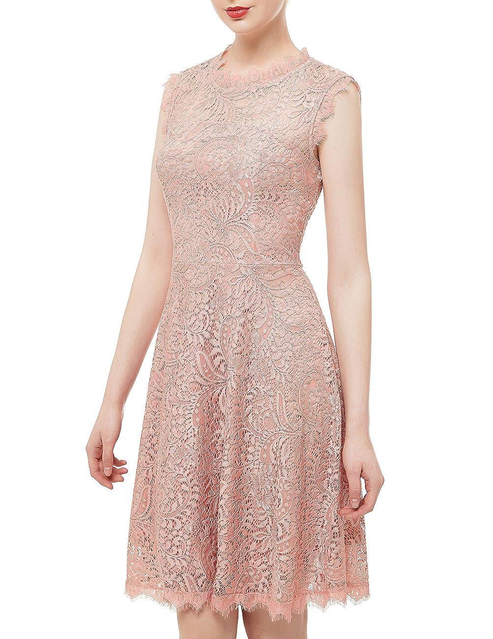 78244dc3c66 DRESSTELLS DresstellsWomen s Elegant Open Back Lace Cocktail Dress for  Special Occasions Blush 3XL at Amazon Women s Clothing store