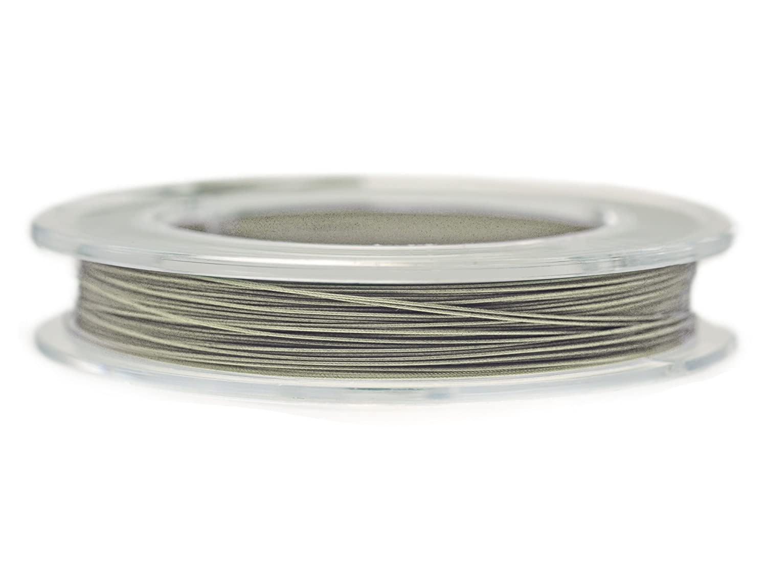 Artistic Wire 1.0 mm Stainless Steel Wire (for Necklace, Bracelets, Earrings etc.), Nylon Coated, 100 M Roll Silver Creative Beadswire